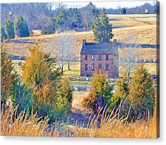 The Stone House / Manassas National Battlefield Park In Winter Acrylic Print