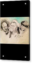The Stooge Legends Acrylic Print by Mario Jimenez