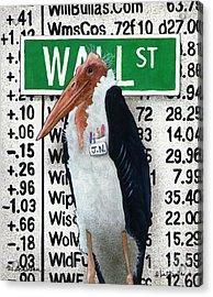 The Storkbroker... Acrylic Print by Will Bullas