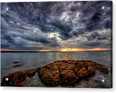 The Storm Cometh Acrylic Print by Paul Svensen