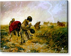 Acrylic Print featuring the painting The Storm by Henryk Gorecki