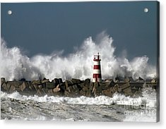 The Storm Wave Acrylic Print by Boon Mee