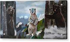 The Story Of The White Bear Acrylic Print by Jukka Nopsanen