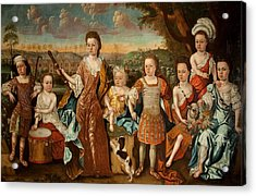 The Strachey Family, C.1710 Acrylic Print by English School