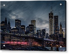 Acrylic Print featuring the photograph The Streaker In Nyc by Linda Karlin
