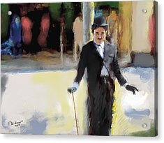 The Street Entertainer Acrylic Print by Ted Azriel