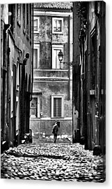 The Streets Of Roma Acrylic Print by John Rizzuto