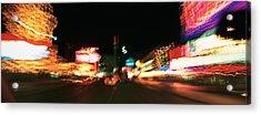 The Strip At Night, Las Vegas, Nevada Acrylic Print