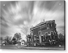 The Stuffed Animal Doll House At The Heidelberg Project - Detroit Michigan - Bw Acrylic Print