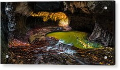The Subway At Zion National Park - Pano Version Acrylic Print by Larry Marshall