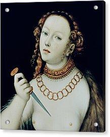 The Suicide Of Lucretia Acrylic Print