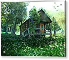 The Summer Cabin Acrylic Print by Dianne  Lacourciere