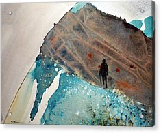 Acrylic Print featuring the painting The Summit by Ed  Heaton