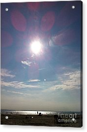 The Sun And The Moon - Witterings Sussex England Acrylic Print