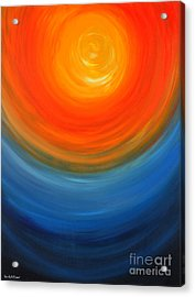 The Sun And The Sea Acrylic Print by Roni Ruth Palmer