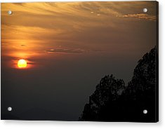 The Sun Behind The Trees Acrylic Print by Rajiv Chopra