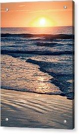 Sun Rising Over The Beach Acrylic Print