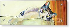 The Sunbather Acrylic Print by Pat Saunders-White