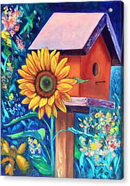 The Sunflower Suite Acrylic Print by Eve  Wheeler