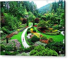 The Sunken Garden Acrylic Print by Janet Ashworth