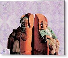 Acrylic Print featuring the digital art The Sunny Couple by Aliceann Carlton