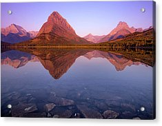 The Sunrise On Mount Grinnell As Seen Acrylic Print