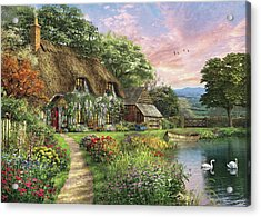 The Sunset Cottage Acrylic Print