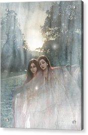 The Sunset Dance Acrylic Print by Angel  Tarantella