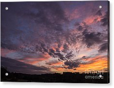 The Sunsets Glow Acrylic Print by Michael Waters
