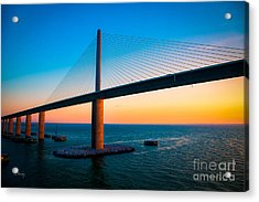 The Sunshine Under The Sunshine Skyway Bridge Acrylic Print