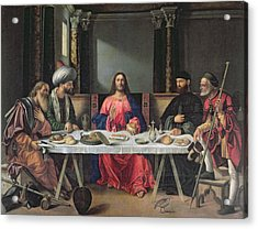 The Supper At Emmaus Acrylic Print by Vittore Carpaccio