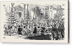 The Supper Room, New Years Eve Acrylic Print by English School
