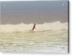 The Surfer Acrylic Print by Nur Roy