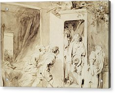 The Surprised Lover Acrylic Print by Jean-Honore Fragonard