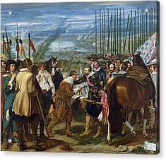 The Surrender Of Breda, 1625, C.1635 Oil On Canvas See Also 68345 Acrylic Print by Diego Rodriguez de Silva y Velazquez