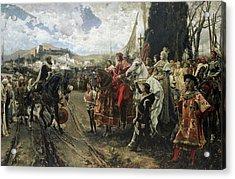 The Surrender Of Granada Acrylic Print