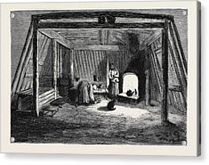 The Survivors Of The Jeannette In Siberia Interior Acrylic Print by English School