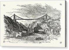 The Suspension Bridge At Clifton, Uk, Britain Acrylic Print