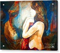 The Swan Lady Acrylic Print by Bianca Romani