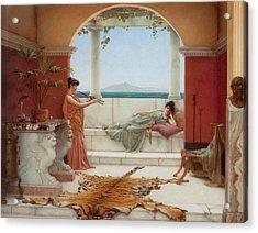 The Sweet Siesta Of A Summer Day Acrylic Print by John William Godward