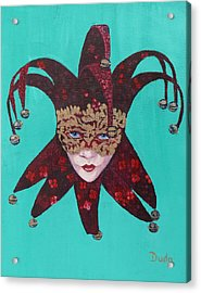 The Sweetheart Of Arlecchino Colombina Venitian Mask Acrylic Print