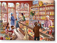 The Sweetshop Acrylic Print by Steve Crisp