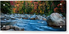 The Swift River Of New Hampshire-an Autumn Grand Landscape Acrylic Print by Expressive Landscapes Nature Photography