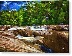 The Swift River Beside The Kancamagus Scenic Byway In New Hampshire Acrylic Print
