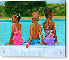 The Swim Lesson Acrylic Print