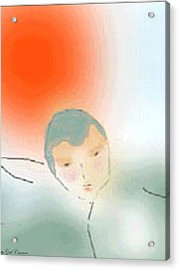 The Swimmer Acrylic Print by Gail Cramer