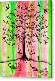 The Swing Acrylic Print by Anjali Vaidya