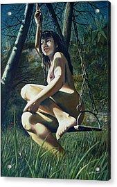 The Swing Acrylic Print by Jo King