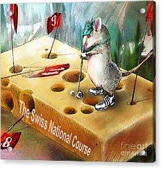 The Swiss National Course Acrylic Print by Miki De Goodaboom