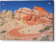 The Swoosh At The Valley Of Fire Acrylic Print by Steve Wolfe